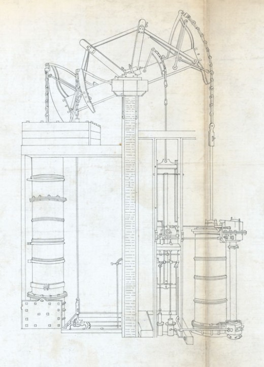 """Old Bess"" steam engine by Boulton & Watt 1777"