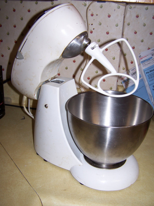 Our tabletop mixer, which I use often to mix various ingredients.