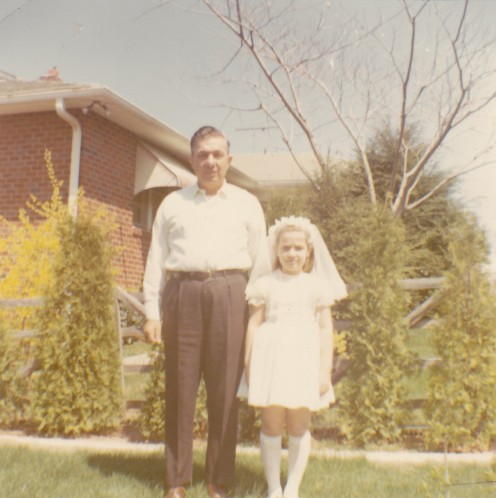 Dad and mar (Holy Communion, 1968)