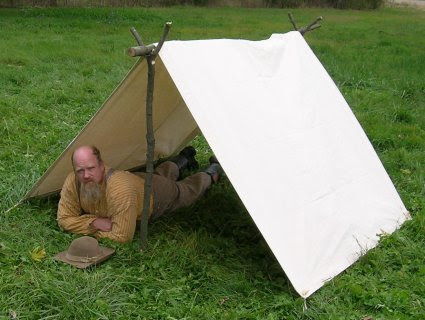 Modern day representation of a Shelter Tent
