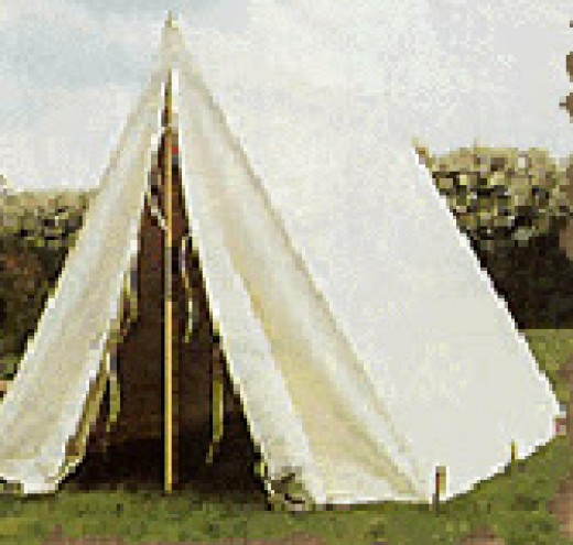 Modern representation of a Wedge Tent