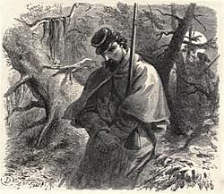 Illustration of Guard Duty at night
