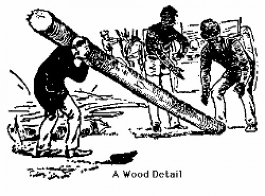 Illustration of Fatigue Detail to carry long logs
