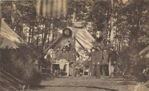 US Sanitary Commission encampment