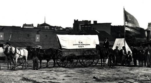 US Sanitary Commission wagon