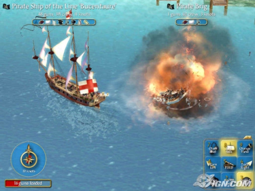 A furious exchange of fire has effectively destroyed the enemy ship. This hurts your returns - you'll have to hold your fire if  you want plunder.