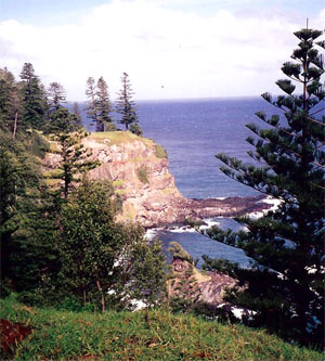 Cove at Norfolk Island today