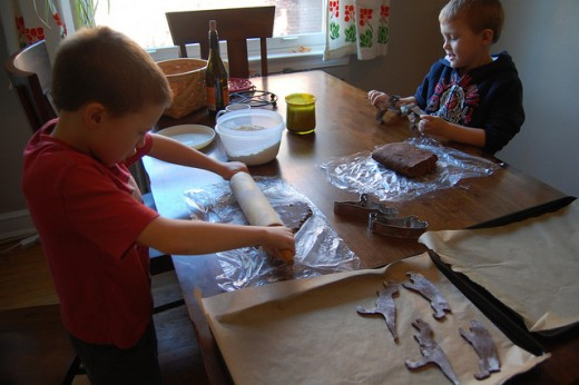 Kids Making Cookies