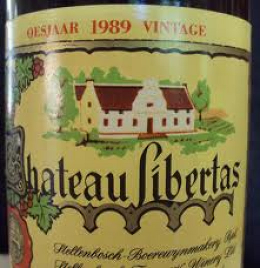 The old label for Chateau Libertas