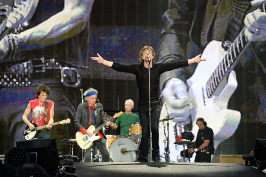 The Stones live in Hyde Park, a mere forty-four years after the first - free - concert at the same venue