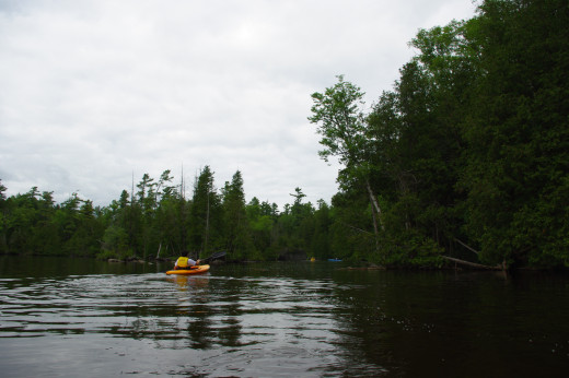 Kayaking in a group is a great way to explore islands.