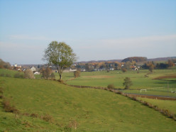 Belgian village of Sterpenich viewed from the west