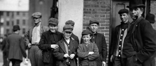 It's not that hard to read the moods and personalities in these 1911 Merrimac Mill workers.