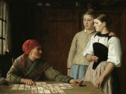Gypsy Fortune Teller reading the cards.