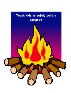 Campfires:  Teach Kids to Build Them Safely