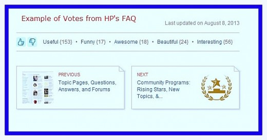 Readers should vote for hubbers the way they vote for HP's FAQ section!