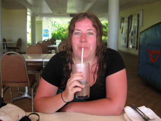 Iced coffee from the Cafe Coral. You can see I needed one - I got very sunburnt that day!