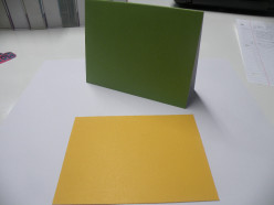 Cardstock card with background cardstock