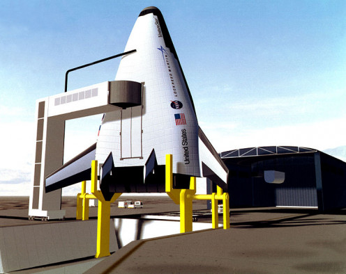 Conceptualized in 1996, this model is one of several proposed by Lockheed Martin over the years.