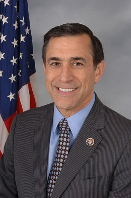 Darrell Issa is the representative from California's 49th Congressional District. Issa has served as the ranking member and Chairman on the Committee on Oversight and Government Reform. He is a vocal opponent of the Obama Administration.