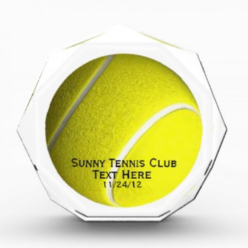 Acrylic Octagon Tennis Award