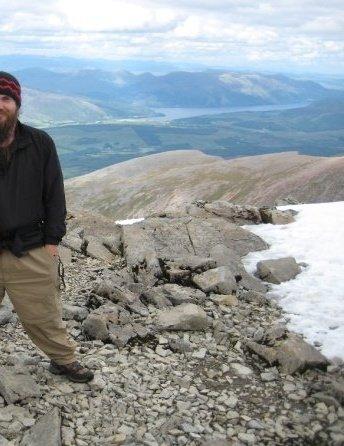 Naturalist atop Ben Nevis, Scotland