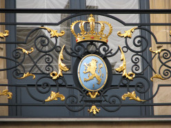 Coat of Arms on Grand Ducal Palace in Luxembourg City, Luxembourg.