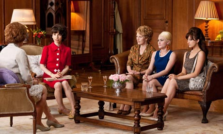 A still from the movie when the women go to meet   with the Secretary of state, Barbara Castle.