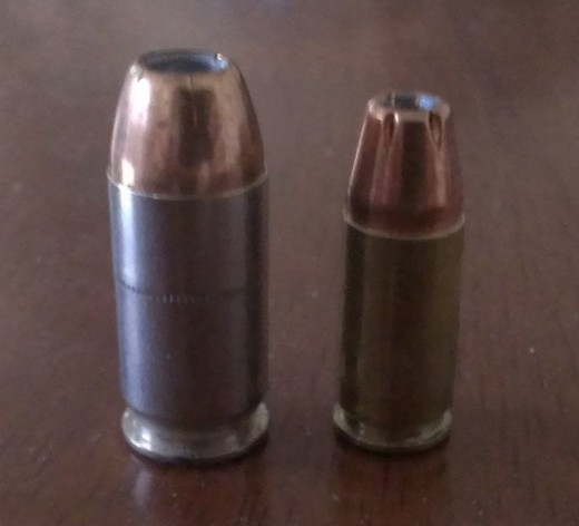 .45 ACP JHP and 9mm Luger JHP