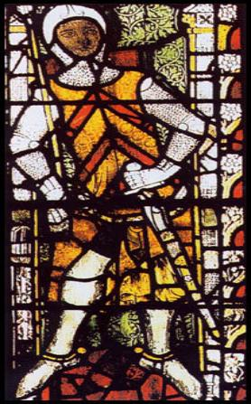 Image of Richard's father Gilbert de Clare at Tewkesbury Abbey, Shopshire