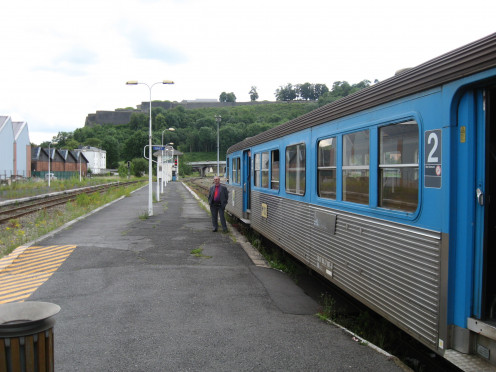 TER train shortly before departure, Givet Station