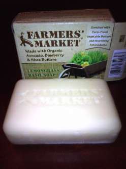 Farmers Market Lemongrass Basil Soap review!