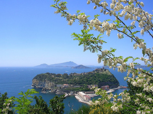 The islet of Nisida near Naples, Italy.