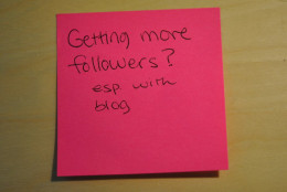 Answering the question of how to get more followers to your site.