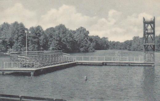 The old pier at Lake Shakamak