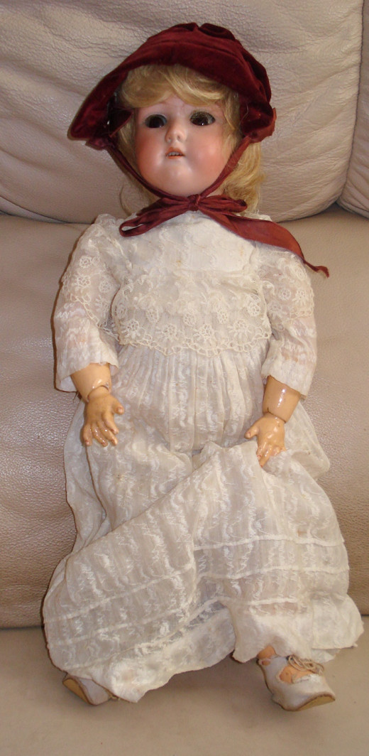 Letita - from the Late 1800s; Original Summer Dress and Bonnet
