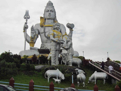 The main attraction-World's Second Largest Statue of Lord Shiva