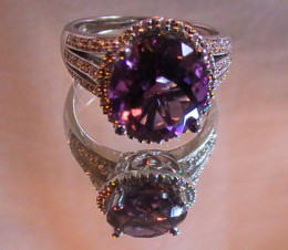 Amethyst earrings can be paired well with matching rings.