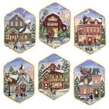 Beautiful cross stitch Christmas ornaments kit from Meijer.