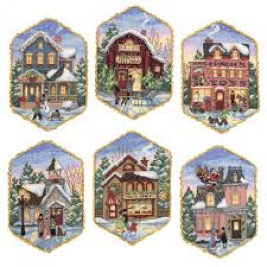 Beautiful cross stitch Christmas ornaments kit from Meijer.