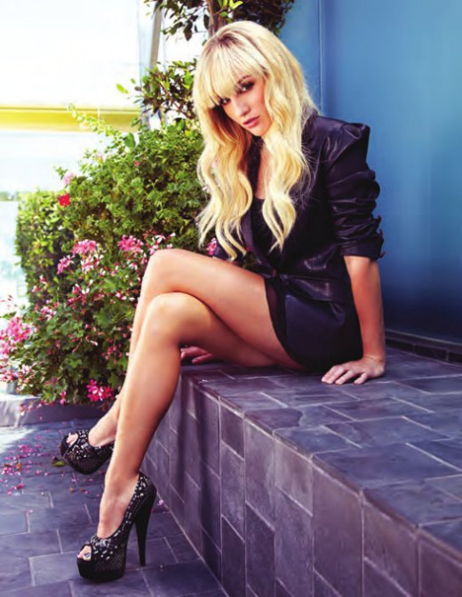 Alison Haislip in a magazine spread