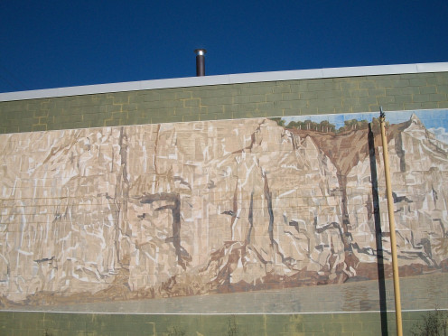 The Bluffs as Viewed by Elizabeth Simcoe c. 1793, mural by Risto Turunen, 2384 Kingston Road, Scarborough, Ontario