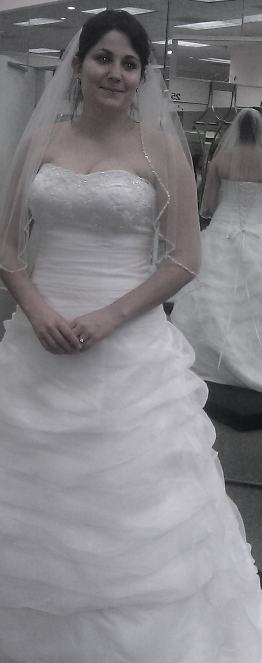The only picture of me in my dress-taken during a fitting.