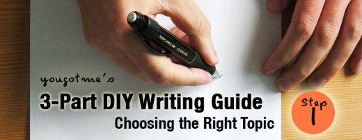 Do-It-Your-Own Writing Guide - Choosing the Right Topic