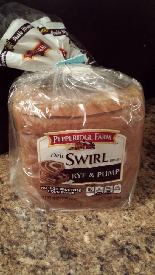 Pumpernickel and Rye Swirl Bread