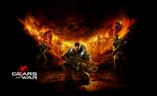A promotional art piece which accurately depicts the dark world of the Gears of War franchise.