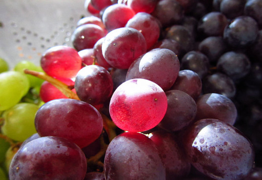 Fresh grapes are a delight and can be added to salad and used in many cooked dishes