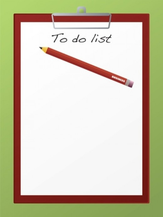 Write the list at the start of your day!