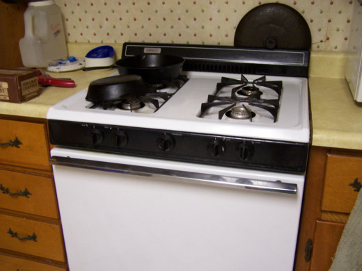 This is a photo of our stove.