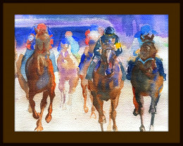 Race Horses by Pat